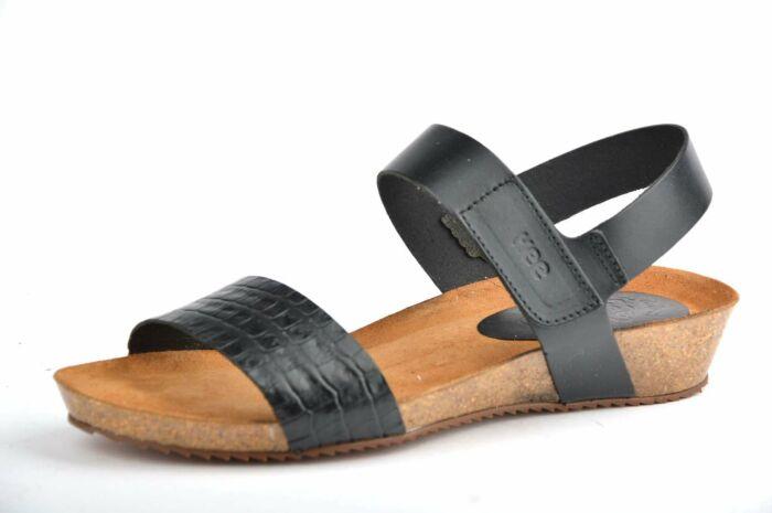 Sandaal met klein sleehakje 20020 coco-vaque negro
