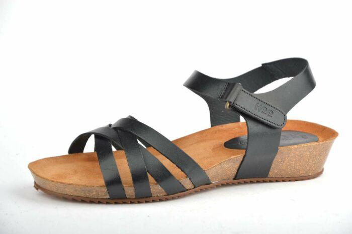 sandaal met klein sleehakje 20024 vaquetilla negro