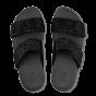 Slipper Mnia Crystal verstelbare banden zwart.